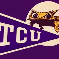 Vintage TCU Texas Christian Horned Frog Art