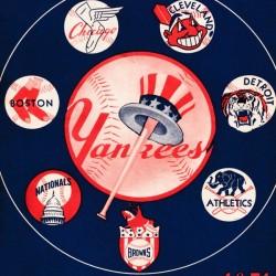 1951 New York Yankees Baseball Program Art