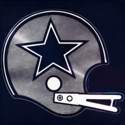Retro Dallas Cowboys Helmet Art