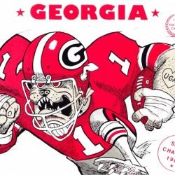 1981 University of Georgia Bulldogs Football Art