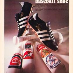 Retro Adidas Baseball Shoe Ad Poster