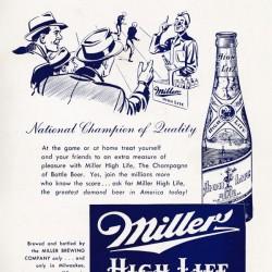 Vintage Miller Beer Ad Poster