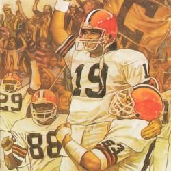 1987 Cleveland Browns Football Art