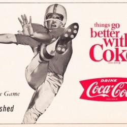 vintage coke football ads