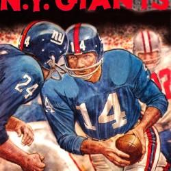 Vintage New York Giants Football Art Print