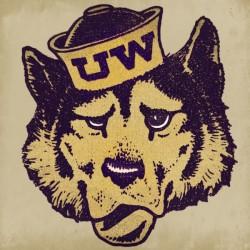 Vintage UW Husky Art