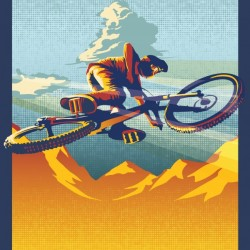 my air miles mountain bike poster