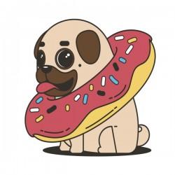 pug donut sweets tasty bun