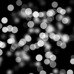 Bokeh Out Of Focus Black White Background Light