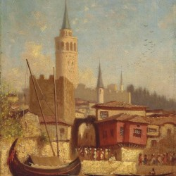 The Galata Tower, Constantinople