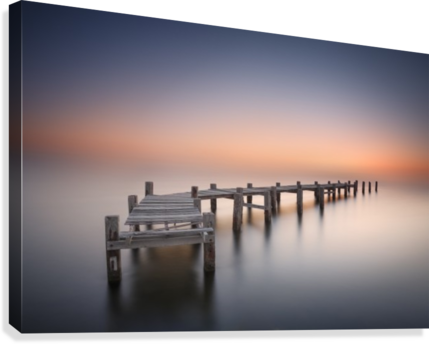 Old pier II  Canvas Print
