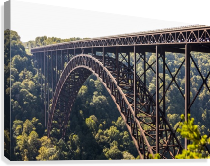 The New River Gorge Bridge is a steel arch bridge 3,030 feet long over the New River Gorge near Fayetteville, in the Appalachian Mountains of the Eastern United States; West Virginia, United States of America  Canvas Print