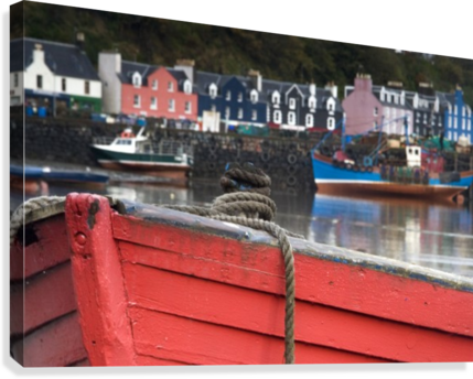 Closeup Of The Bow Of A Boat, Tobermory, Isle Of Mull, Scotland  Canvas Print