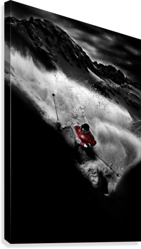 Dark Freeride  Canvas Print
