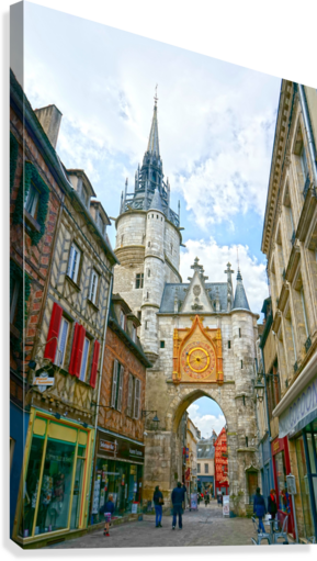 Auxerre France Snapshot in Time  Canvas Print