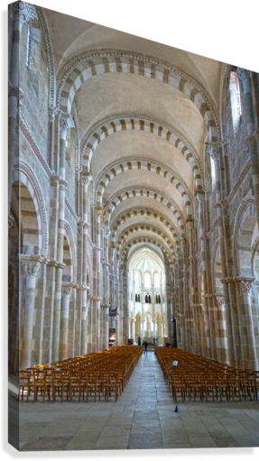 Basilica of Sainte Marie Madeleine 4 of 5 @ Vezelay France  Canvas Print