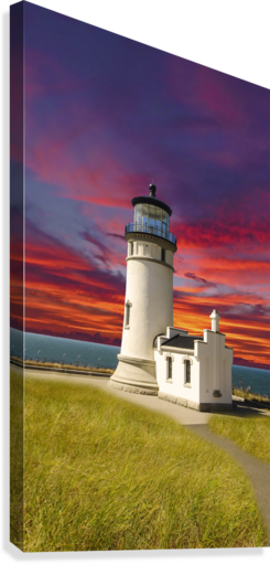The LightHouse at Sunset  Canvas Print