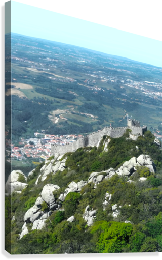 Castelo dos Mouros - Castle of the Moors - Sintra Portugal  Canvas Print