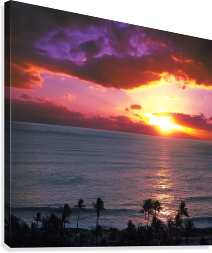 Serenity - Perfect Bliss - Sunset  Canvas Print