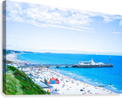 Snaphot in Time Bournemouth  Canvas Print