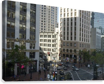 Snapshot in Time @ San Francisco Financial District  Canvas Print