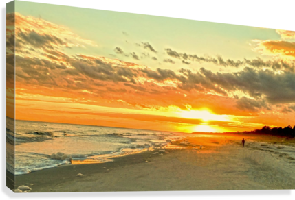 The Carolina Sunset Canvas print