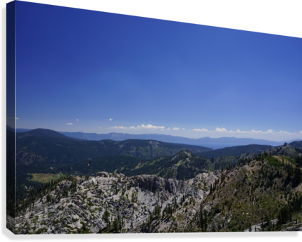 View from the Top @ Lake Tahoe  Canvas Print