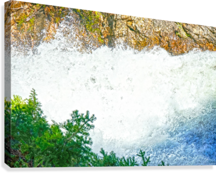 Rocky Mountain Rapids and Waterfalls 1 of 8  Canvas Print