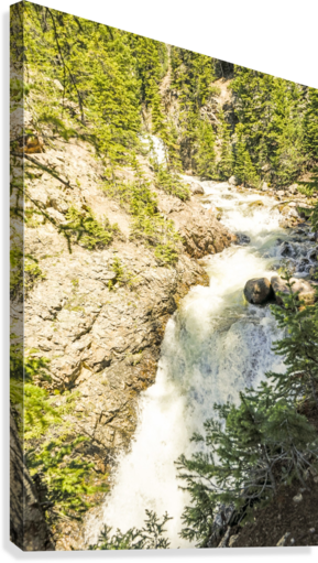 Rocky Mountain Rapids and Waterfalls 6 of 8  Canvas Print