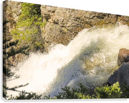 Rocky Mountain Rapids and Waterfalls 7 of 8  Canvas Print