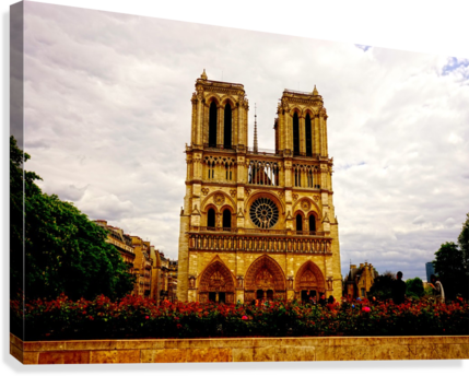 Jeanne d Arc and Saint Croix Cathedral at Orleans   France 1 of 7  Canvas Print