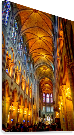 Jeanne d Arc and Saint Croix Cathedral at Orleans   France 2 of 7  Canvas Print