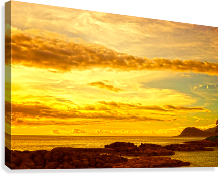 Sunset in Paradise   South Seas  Canvas Print
