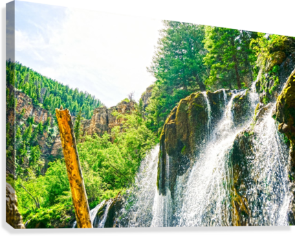 Waterfall Country Colorado 1 of 4  Canvas Print