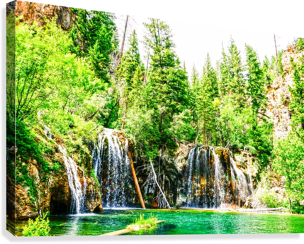 Waterfall Country Colorado 3 of 4  Canvas Print