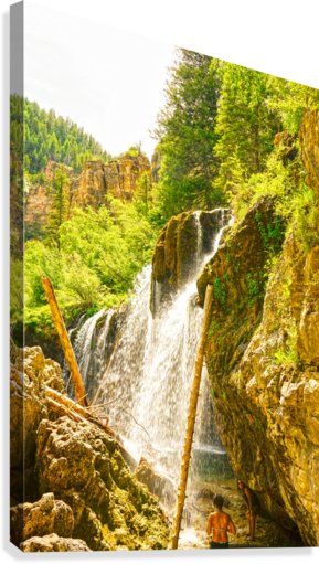 Waterfall Country Colorado 4 of 4  Canvas Print