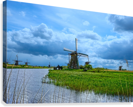 Windmills of the Netherlands 3 of 4  Canvas Print