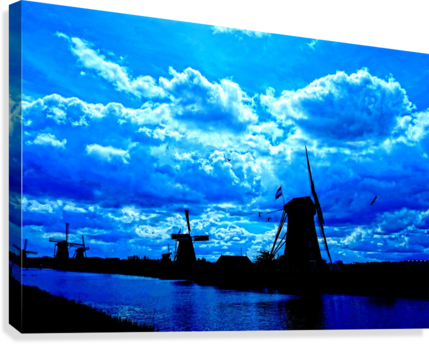Windmills of the Netherlands 4 of 4  Canvas Print