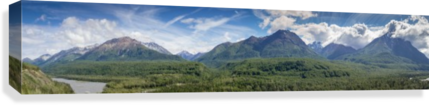 PHOTOS ALASKA MOUNTAIN PANORAMA 3QUARTERS IMAGES  Canvas Print