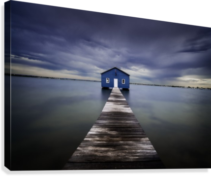 The Blue Boatshed  Canvas Print