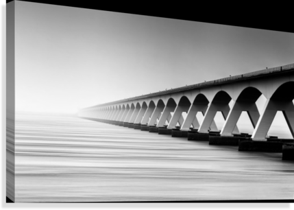 The Endless Bridge  Canvas Print