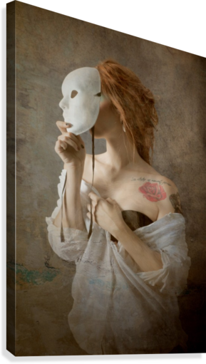 seeing through the mask  Canvas Print