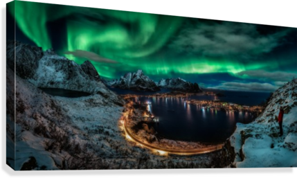 Chasing the Northern Lights  Canvas Print