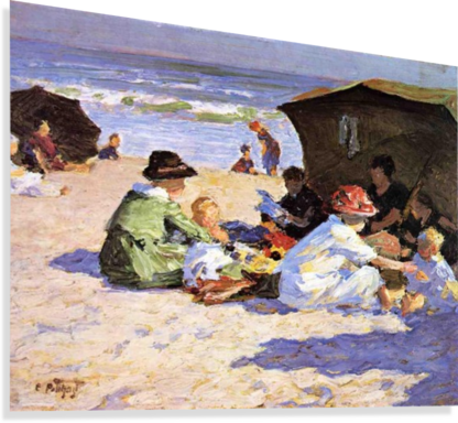 A DAY AT THE SEASHORE EDWARD HENRY POTTHAST  Canvas Print
