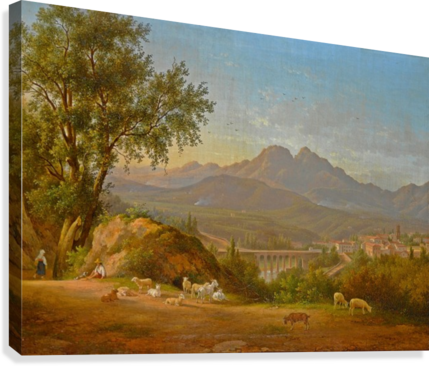 A view of cava dei Tirreni near Salerno, Italy  Canvas Print