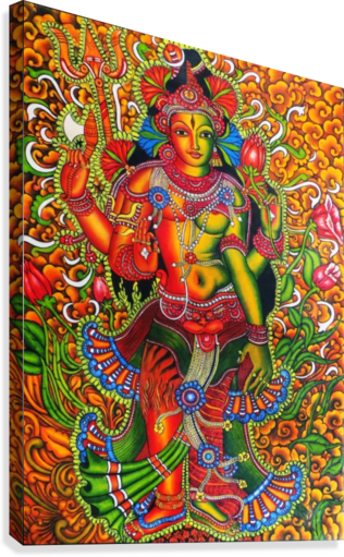 ARDHA NAAREESHWARAN LORD SIVA AND PARVATHY  Canvas Print