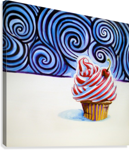 CUPCAKE ADAM GILLESPIE ARTWORK  Canvas Print