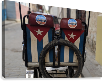 Cuban Bicycle Taxi  Canvas Print