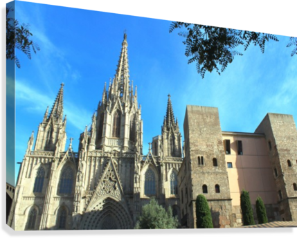 Amazing Barcelona Cathedral  Canvas Print