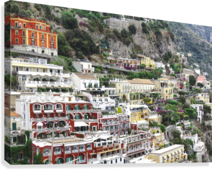 Houses at Amalfi Town - Italy  Canvas Print